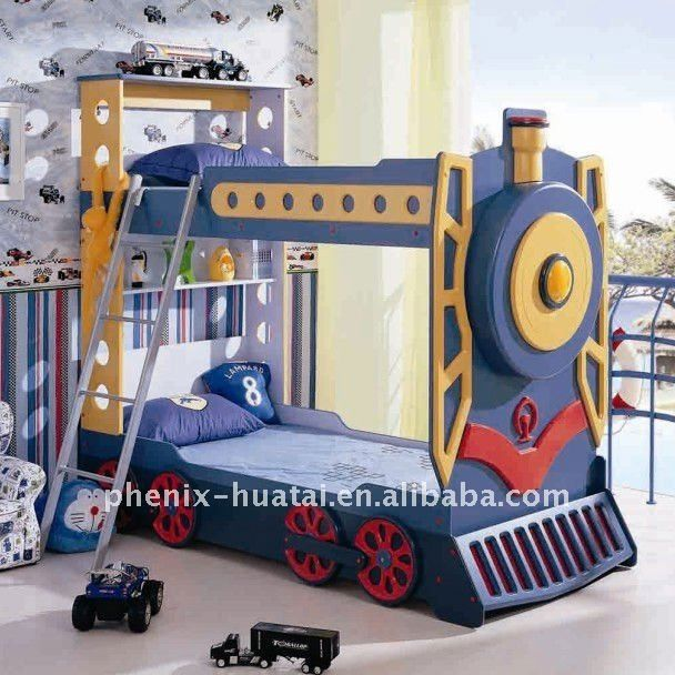 Bunk Beds For Toddler Boys | Kids Train Bunk Bed Photo, Detailed .