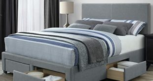 Amazon.com: DG Casa Kelly Panel Bed Frame with Storage Drawers and .