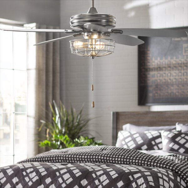 "Trent Austin Design 52"" Kyla 5 Blade Ceiling Fan, Light Kit ."