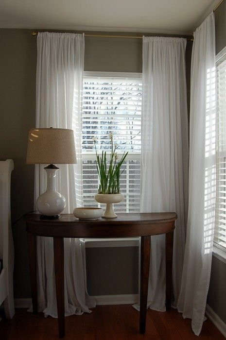 Master Bedroom | Curtains with blinds, Home, Curtains over blin