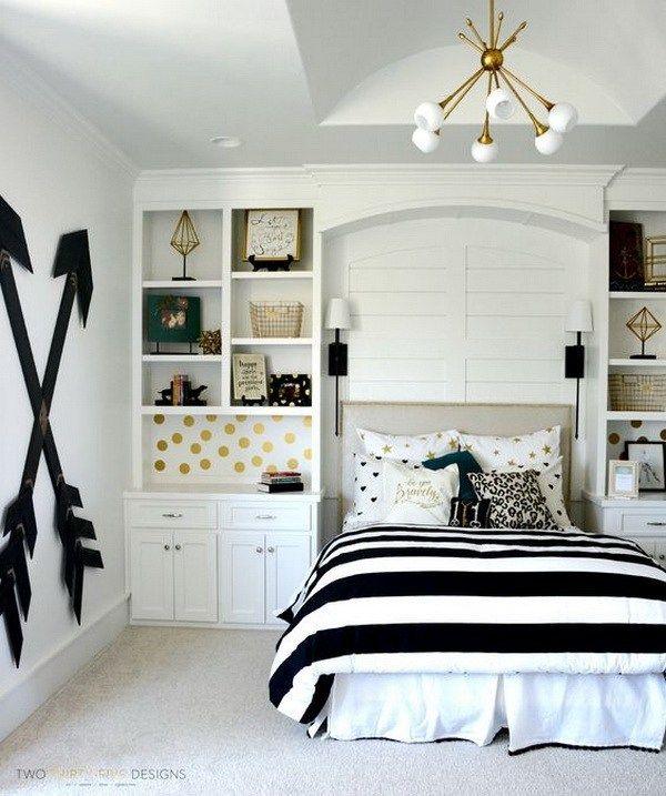 40+ Beautiful Teenage Girls' Bedroom Designs | Gold bedroom, Girl .