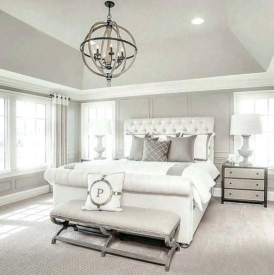 How to Choose Bedroom Lights | Rustic master bedroom, All white .