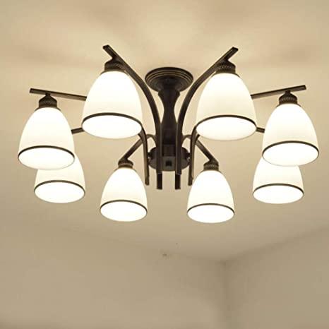 Joypeach LED Retro Iron Living Room Ceiling Lights Fixtures .