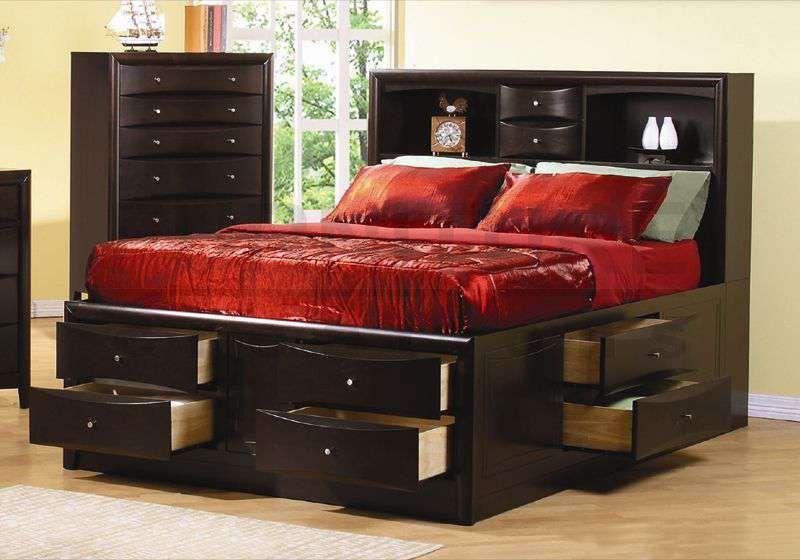 Platform Bed Frame King For Big Bedroom 9   Bed frame with storage .