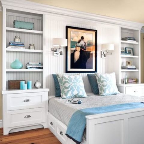 24 Clever And Comfy Bedroom Wall Storage Ideas - Shelterne