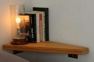 Shelf when bed is against the wall. Small bedroom storage idea .