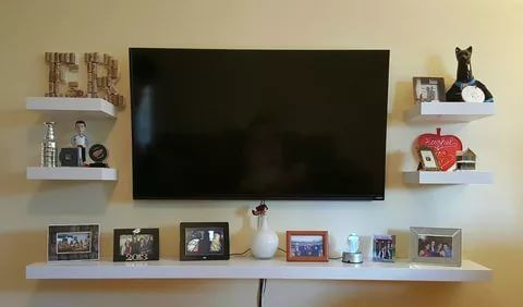 Wall Shelf Ideas (Shelves for Every Room) | Mounted tv decor, Tv .