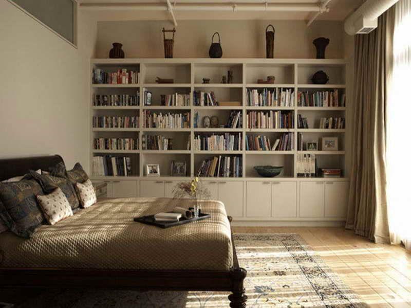 bedroom bookshelves | ... Wall Shelves Ideas: Full Wall Shelves .