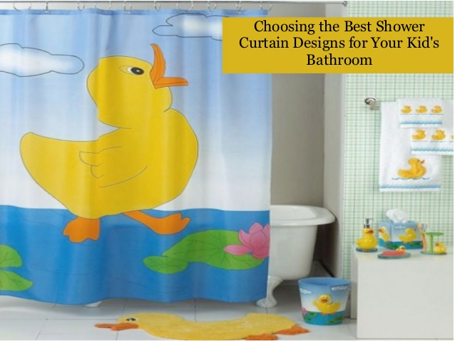 Choosing the best shower curtain designs for your kid's bathro