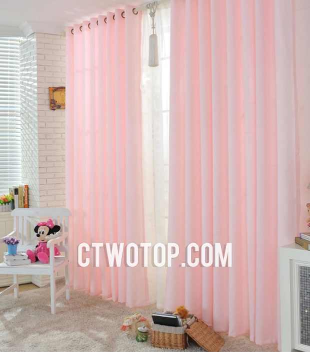 Dreamy Cute Best Beautiful Baby Pink Simple Kids Curtai