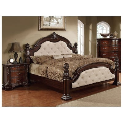 Buy California King Size Canopy Bed, Walnut Finish Bedroom Sets .