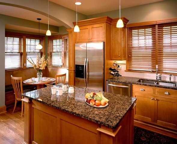 The BEST Kitchen Wall Color For Oak Cabinets * Kelly Bernier Desig