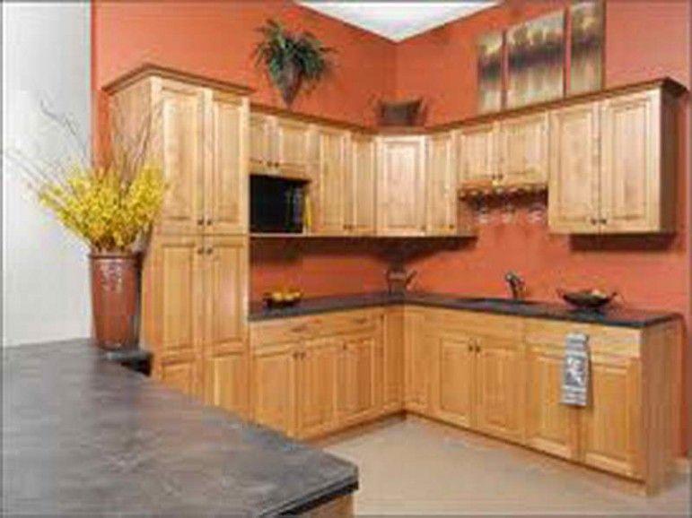 best kitchen paint colors with oak cabinets and black appliances .