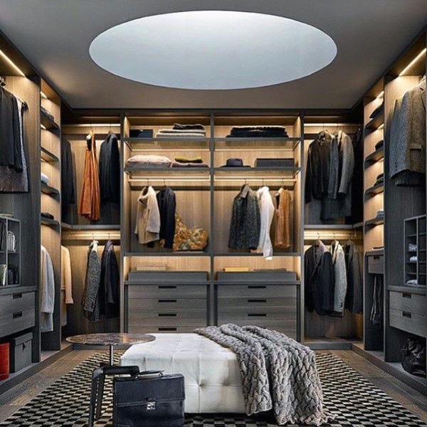 Top 100 Best Closet Designs For Men - Walk-In Wardrobe Ideas .