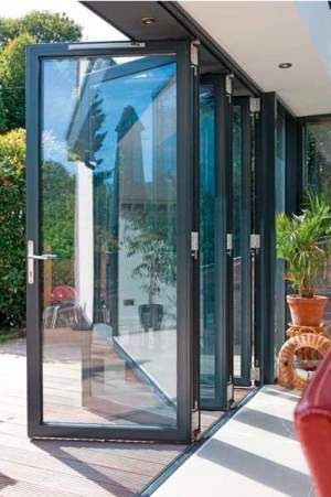 aluminum bifold door | Enclosed patio, House desi
