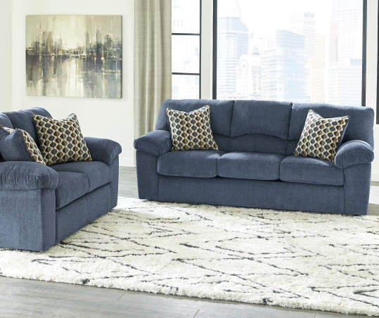 Signature Design By Ashley Pindall Denim Blue Sofa | Big Lo