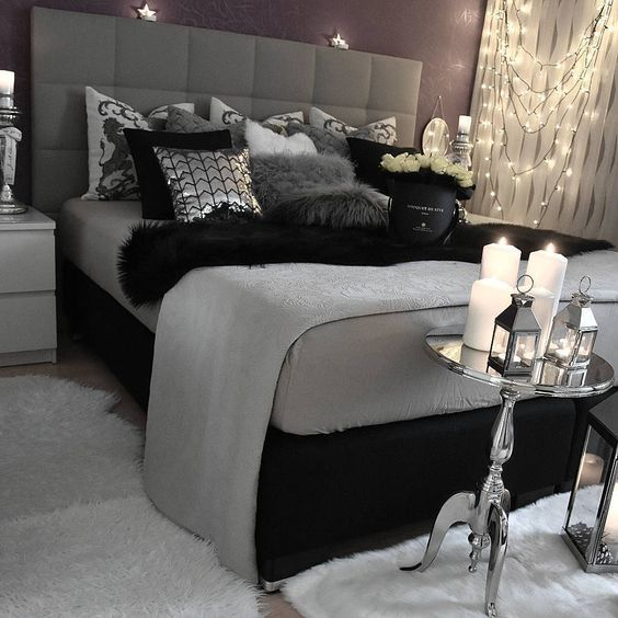 Black And Silver Bedroom Decorating Ideas | Bedroom, Home bedroom .