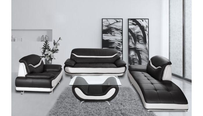Bentley Modern Black and White Sofa S