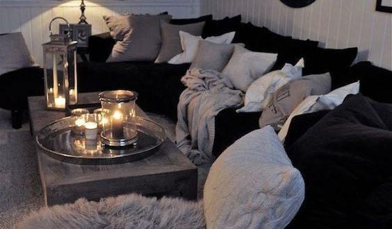 Black And White Living Room Interior Design Ideas | Living room .