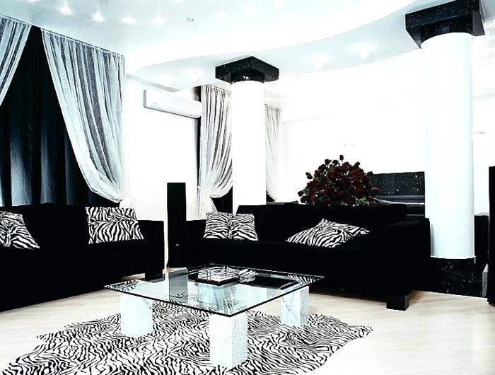 Black And White Living Room Furniture Decorating Ideas Leather .