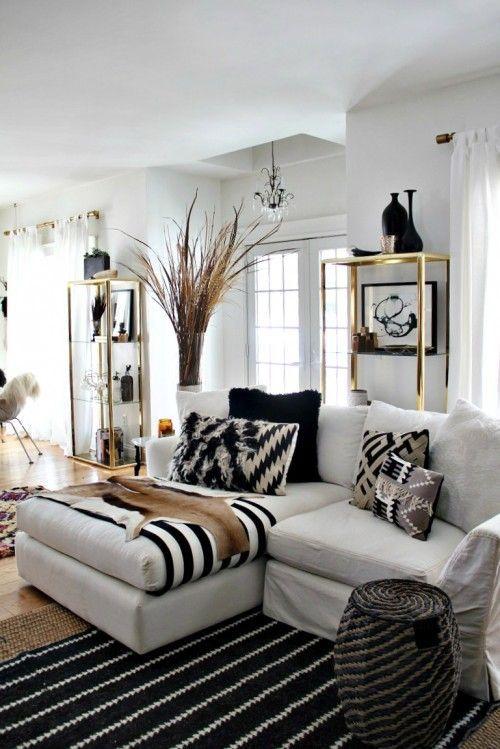 48 Black and White Living Room Ideas | Black, white living room .
