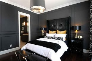 Bold Black And White Bedrooms With Bright Pops of Col