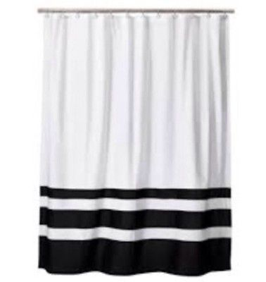 Home Threshold for Target Shower Curtain Bottom Stripe White and .