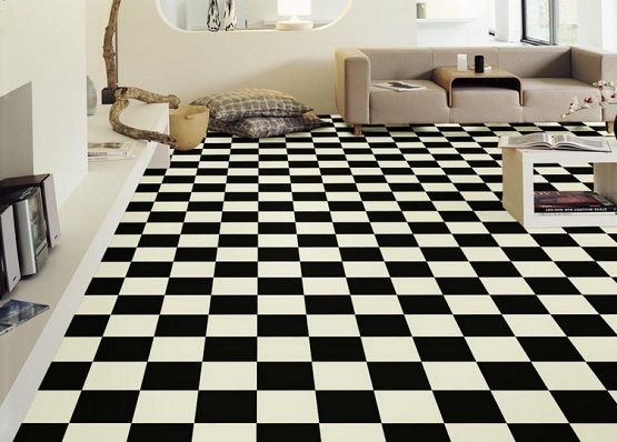 Decoration Tips Related With Black and White Vinyl Flooring .