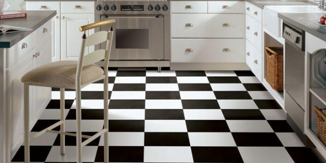 Black & White Vinyl Floori