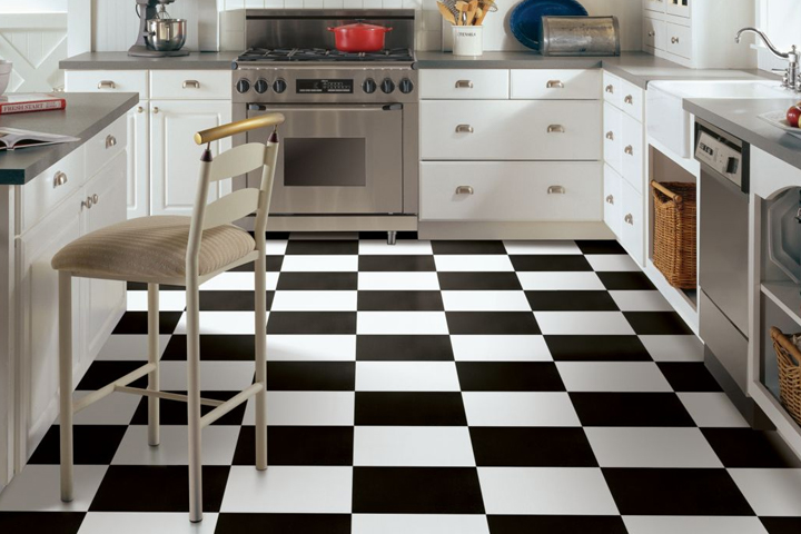 Black and White Vinyl Flooring