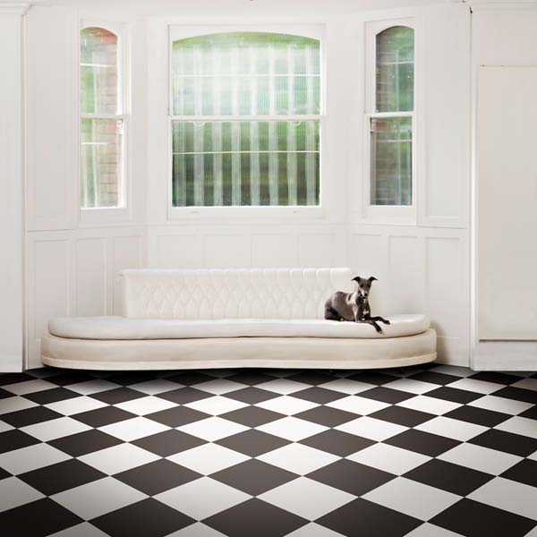 Latte White Vinyl Flooring Tile - £39.95 per square met