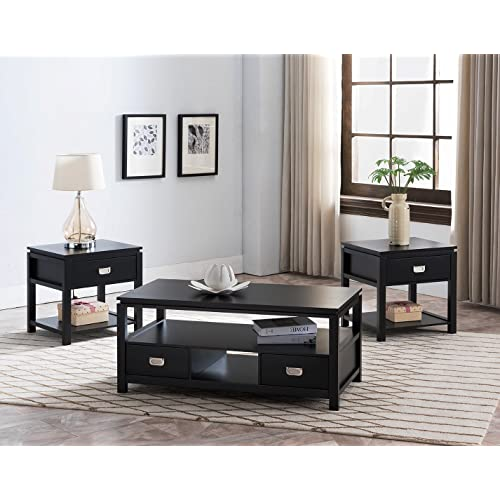 Coffee Table and End Table Set with Storage: Amazon.c