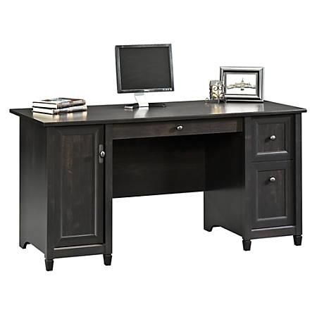 Sauder Edge Water Computer Desk Estate Black - Office Dep