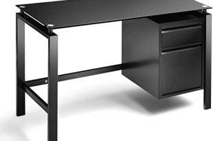 Amazon.com: Black Computer Office Desk Writing Desk with Premium .