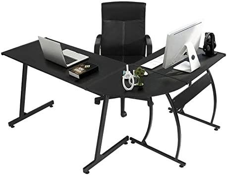 Amazon.com: GreenForest L-Shaped Corner Desk Computer Gaming Desk .