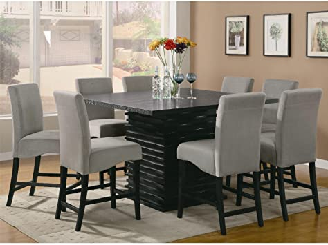 Amazon.com - Stanton Contemporary 9pc Counter Height Dining Set .