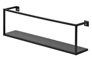 Floating Wall Shelf - Black : Targ