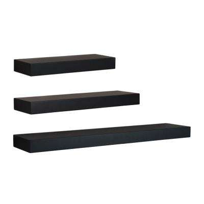 Black - Wall-Mountable - 3 - Decorative Shelving & Accessories .