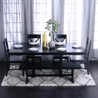 black kitchen table and chair sets