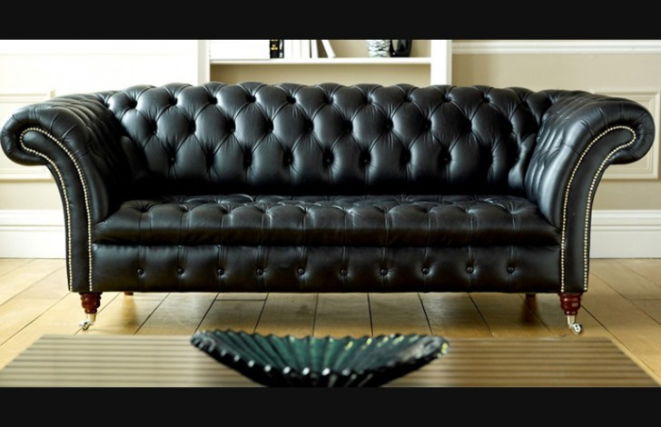 Black Leather Chesterfield | Balston | Chesterfield Compa