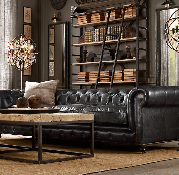 How To Decorate A Living Room With A Black Leather Sofa | Decohol
