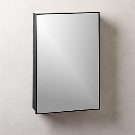 "Infinity Black Medicine Cabinet 18""x27"" + Reviews | C"