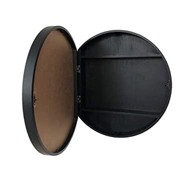 Amazon.com: SDK Round Bathroom Mirror Cabinet, Bathroom Wall .
