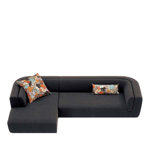 Inntil Black Sectional Sofa MissoniHome - Arteme