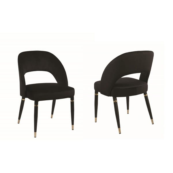 Shop Strick & Bolton Gwen Black Upholstered Dining Chair (Set of 2 .