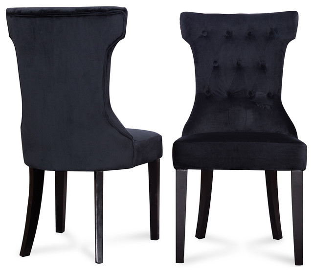 Parsons Elegant Tufted Upholstered Dining Chair, Set of 2 .