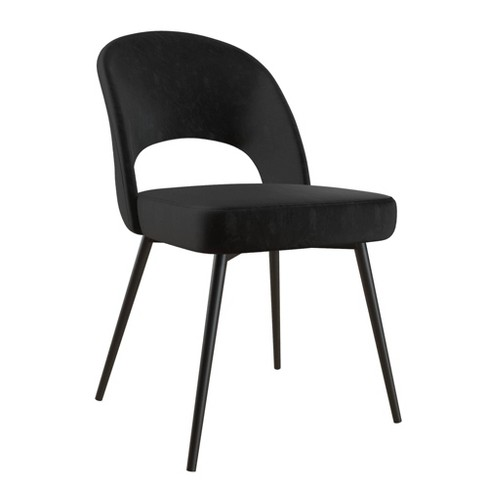Alexi Upholstered Dining Chair Black Velvet - Cosmoliving By .