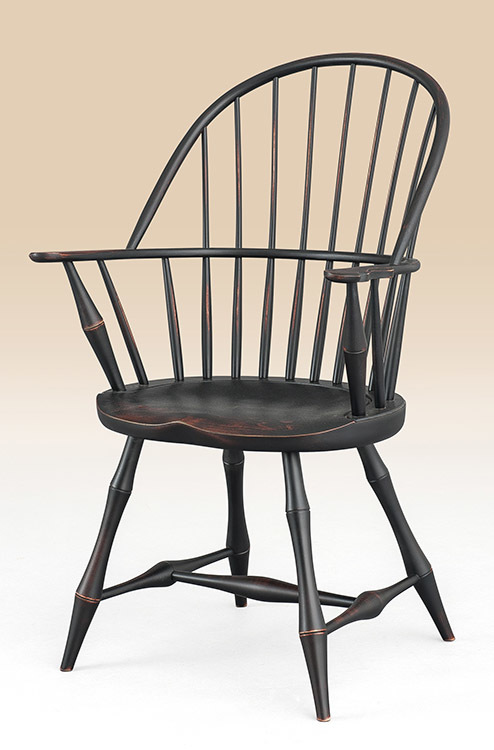 Historical Connecticut Sack-Back Windsor Armchair with Bamboo .