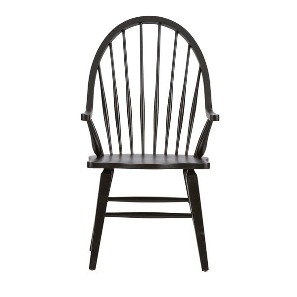 Shop The Gray Barn VermejoTraditional Rustic Black Windsor Arm .