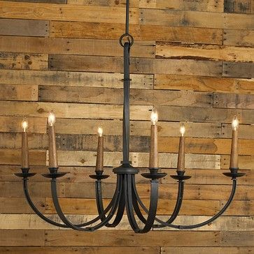Modernized Rustic Iron Chandelier - Large - chandeliers - Shades .